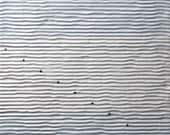 "abstract minimal painting on paper. "" striped water 1"""