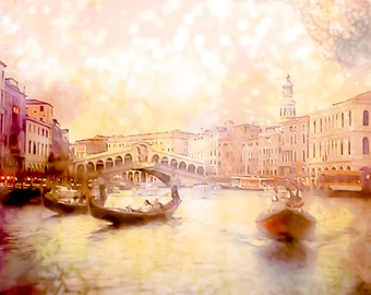Italy Photography, Venice Photography, 8x12 Print, Canal, Whimsical, Vintage, Gondola, GBK's 2013 Primetime Emmys Gift Lounge