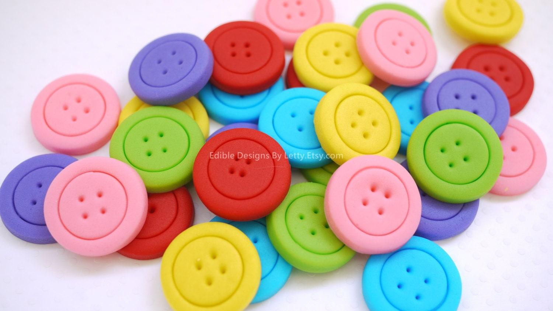 fondant buttons
