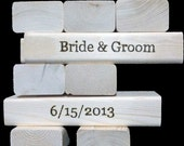 PERSONALIZED Tumbling Timbers Set Handmade from new SOLID wood