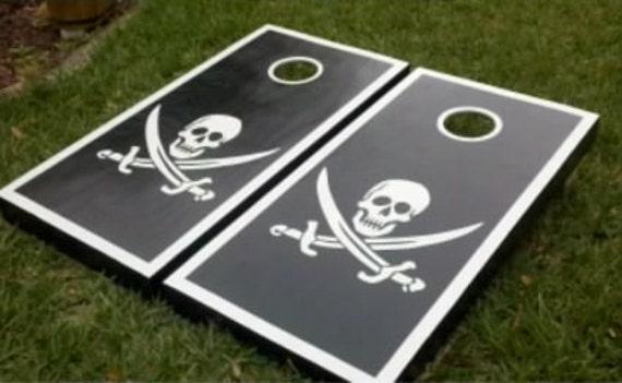 custom cornhole boards skull design