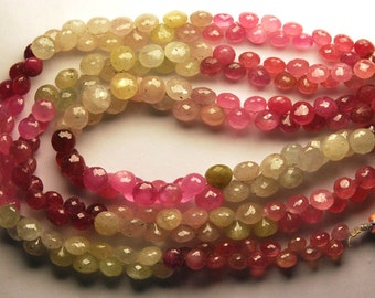 FULL Strand, Super Finest Quality, Super-- Natural UMBA SAPPHIRE Faceted Onions Shape Briolettes,7-6mm size,