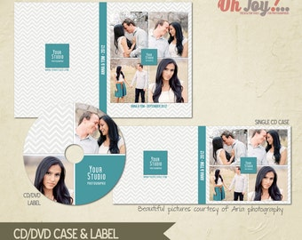 INSTANT DOWNLOAD - Cd / Dvd Case and label Photoshop template - CC101