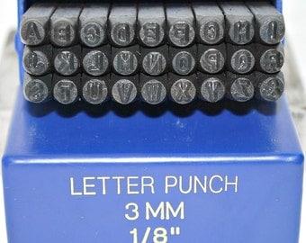 Basic Block Metal Alphabet Stamp Set- 3mm Uppercase Stamps- Metal Letter Set- Arial Stamp Set- Metal Stamping Starter Set- SGBB-3MM