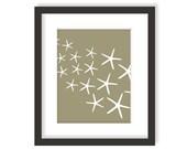 Starfish Artwork - Beach Cottage Art, Nautical Wall Decor, Modern Kids Art, Ocean Theme Decor, Coastal Living Decor, Sea Nursery Art