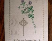 vintage POSTCARDS ...  EASTER GREETINGS cross stamped 1917...