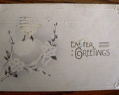 vintage POSTCARDS ...  EASTER GREETINGS chick egg 1916...