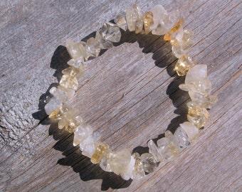 Citrine Gemstone Healing Stretch Bracelet