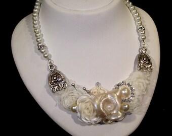 Bridal Jewelry, Bridal Pearl Necklace, Pearl Necklace, Wedding Pearl Necklace, Chunky Pearl Necklace, Wedding Jewelry