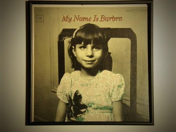 Glittered Record Album - Barbra Streisand - My Name is Barbra