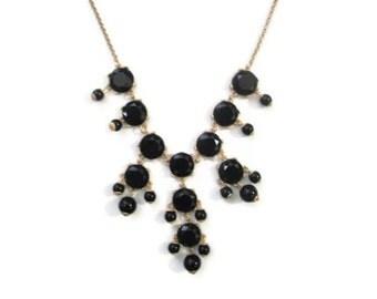 mini Bubble Necklace, Small Bauble Necklace, Mini Black Bubble Necklace, Dainty Black Necklace