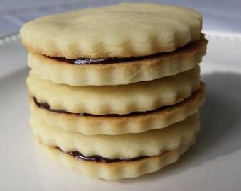 Shortbread Ganache Sandwich Cookies - 1 dozen