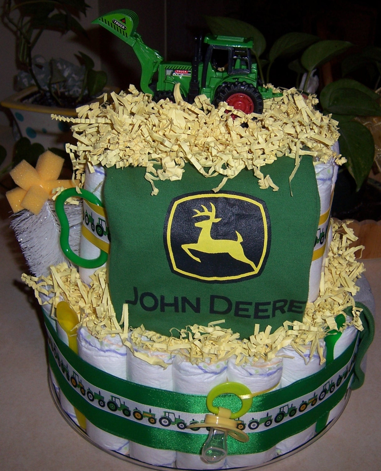 john deere diaper cake great baby shower gift