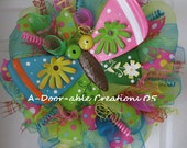 Moving Sale 50% OFF..WHiMSiCaL BuTtErFLy WrEaTh