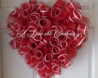 """P.S. """"I Love You"""" Deco Mesh Wreath...More Colors Available...Happy Valentine"""