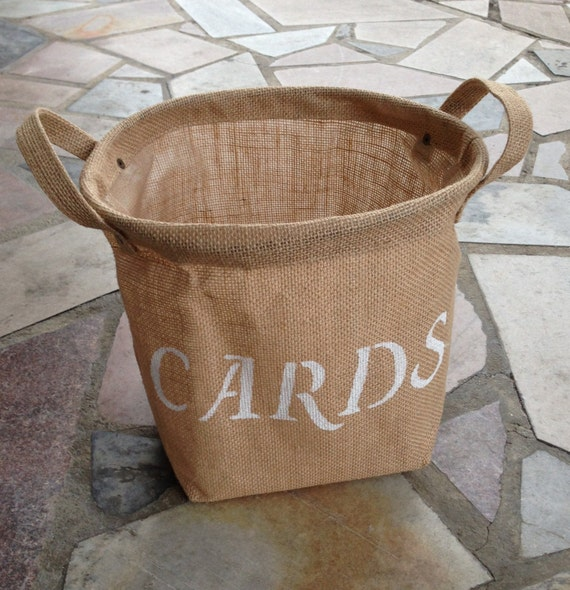 Cards Burlap Bag Great for Weddings and Home Decor