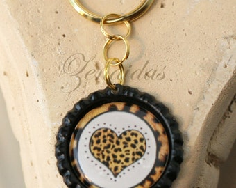 Leopard Keychain Doublesided