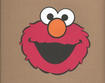 1- 8 inch tall Elmo face Cricut Die Cut