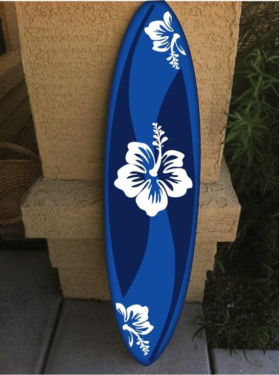 wall hanging surf board surfboard decor hawaiian beach surfing. Black Bedroom Furniture Sets. Home Design Ideas