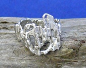 Straw Cast Sterling Silver Driftwood Ring