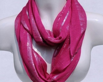 shinny viscose infinity scarf women spring scarf