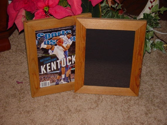 sports illustrated magazine frame solid cedar country rustic current size only light oak finish