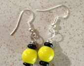 Bumble bee inspired earrings for Rosie