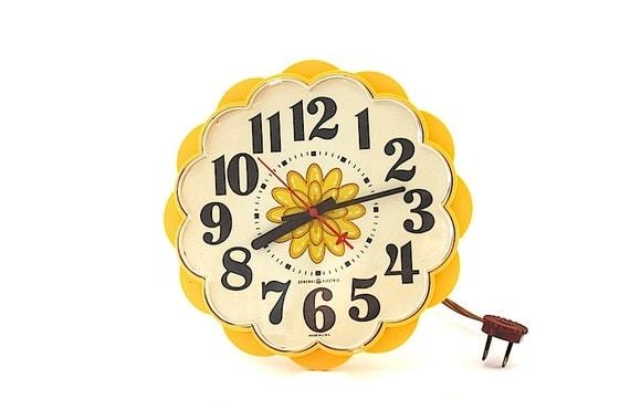 Clock Kitchen Clock General Electric Vintage Clock Vintage