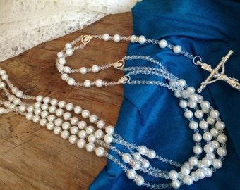 White Crystal Pearls Wedding lasso/ Lazo de Boda en perlas blancas/ laso de boda/ wedding laso