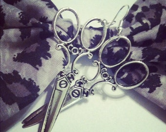 Cosmetology haircutting hairdressing scissor shears earrings