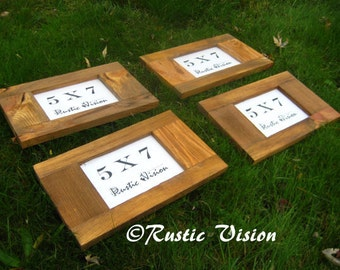 """Rustic Frame SET OF 4 5""""x7"""" Elongated Frames made of reclaimed wood"""