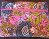 """7""""x5"""" zippered wool & fabric pouch RESERVED for Rachel"""