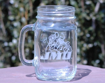 JMU 16oz Mason Drinking Jar