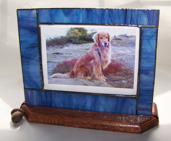 Baby Gift Baskets Under 30 : Stained glass photo frame blue gifts under picture