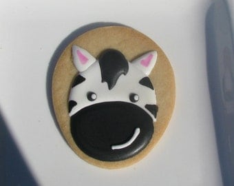 Baby Zebra Sugar Cookie