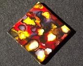 Alcohol Ink - Ceramic Coasters - Alcohol Ink Coasters - Backsplash - Ink Coasters - Custom Tiles - Ceramic Tiles