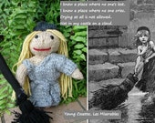 """Young Cosette, Les Miserables Doll Collection, Hand Knitted, approx. 8"""" tall"""