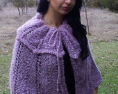 Cloak, shoulders, ashes of roses, ponchos, hand knitting, mohair, acrylic viscose