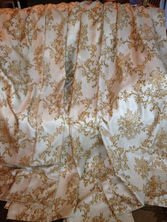 Gorgeous Vintage Victorian Style Drapes Or Curtains Cream With