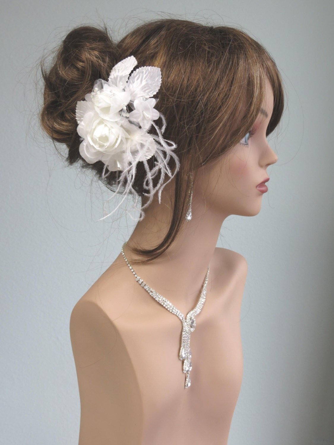 wedding hair flower clips white bridal flower hair clip wedding hair clip wedding 9686