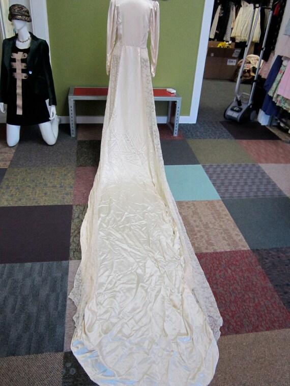 items similar to 1940s wedding dress very simple satin