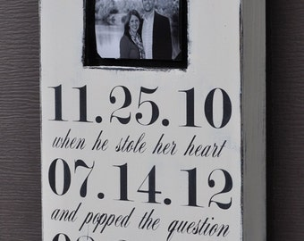 Personalized Wedding Picture Frame, Custom Wedding Sign, Personalized Engagement Gift, Wedding Gift, Bridal Shower Gift, Wedding Photo Frame