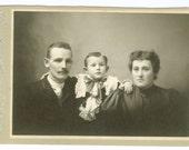 Unidentified Family Photograph, Orange Massachusetts Antique Cabinet Card Photo