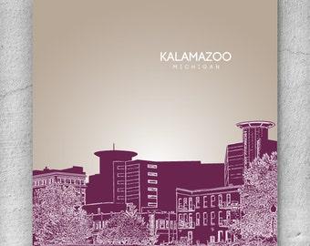 Kalamazoo Skyline Etsy