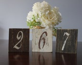 Rustic Table Numbers , Shabby Chic Table Numbers Wedding Decor Set of 28