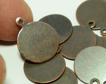 144 Pieces Copper Plated 13 mm Blanks Stamping Disc