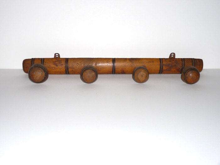 porte manteau en bois imitation bambou 4 pat res 1930. Black Bedroom Furniture Sets. Home Design Ideas