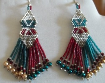 CLEARANCE  Long beaded earrings