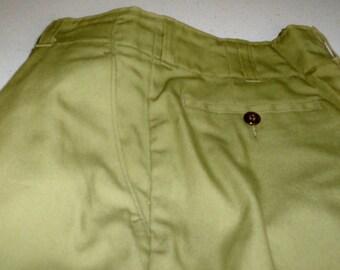 Vintage Historical Olive Green Boy Scout Pants Slacks Trousers Uniform Scout B.S.A.