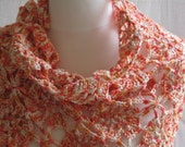 Scarf Peaches And Cream Mix Flower Shawl Wrap Scarf